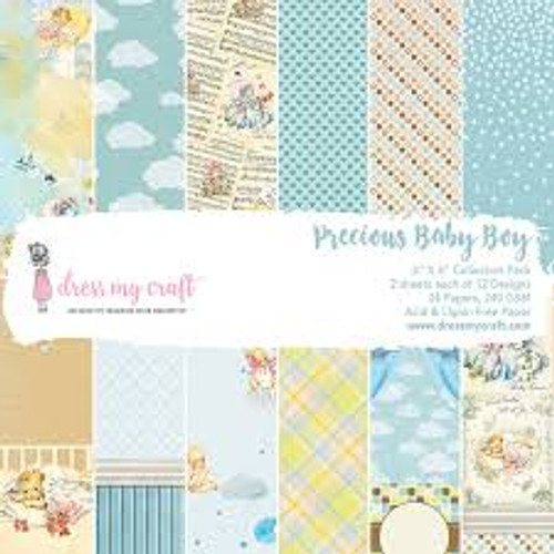 Dress My Craft Precious Baby Boy  6 x 6 Collection Paper Pack
