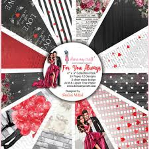 Dress My Craft For You Always  6 x 6 Collection Paper Pack