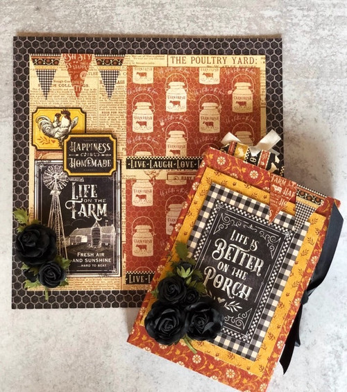 Graphic 45 Farmhouse Rise & Shine Folio & Layout Monthly Project Volume 6