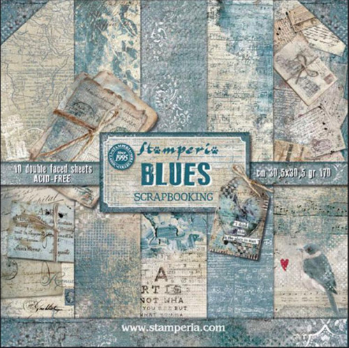 Stamperia Blues Paper Pack 12 x 12