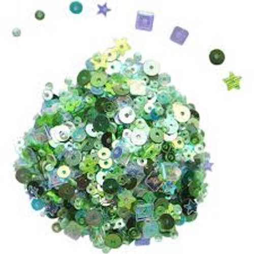 Dress My Craft Blossom with Green Sequins