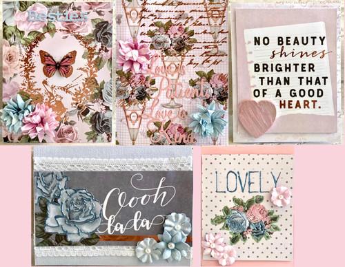 Poetic Rose Card Kit (5 Cards)