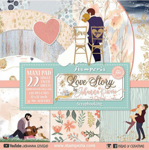 Stamperia Love Story Paper Pack 12 x 12