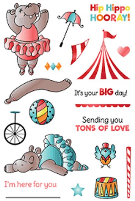 LDRS Hippo Hooray Stamp Set