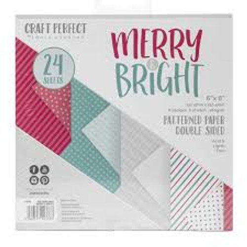 Tonic Craft Perfect Merry and Bright 6 x 6 Patterned Paper Pack