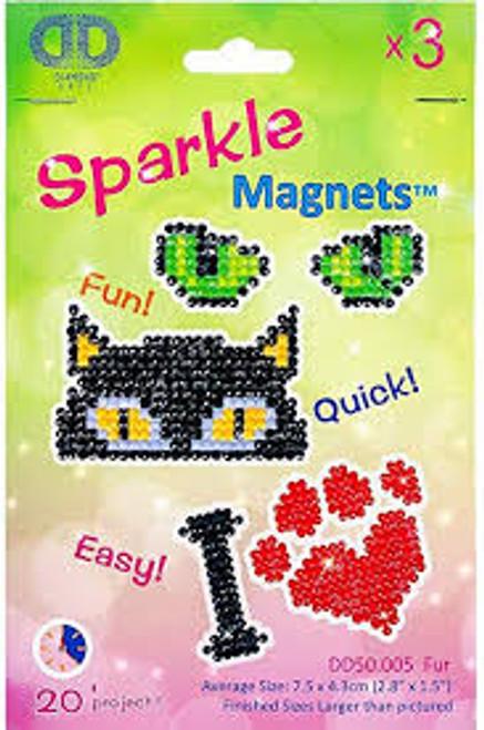 Diamond Dotz Magnets  Fur