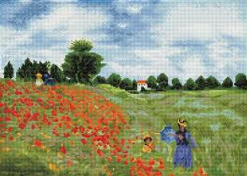 Diamond Dotz Poppy Fields (Monet)