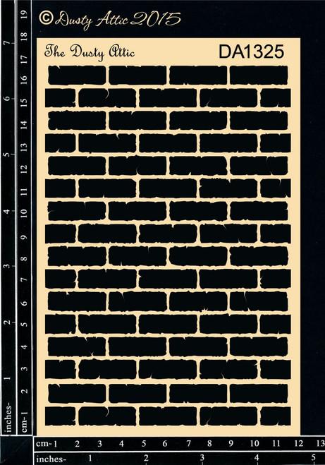 Dusty Attic Brick Wall Stencil