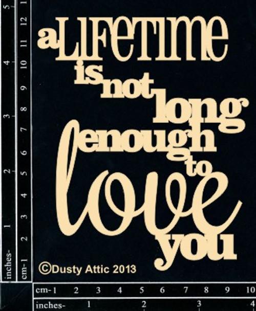 Dusty Attic A Lifetime is Chipboard