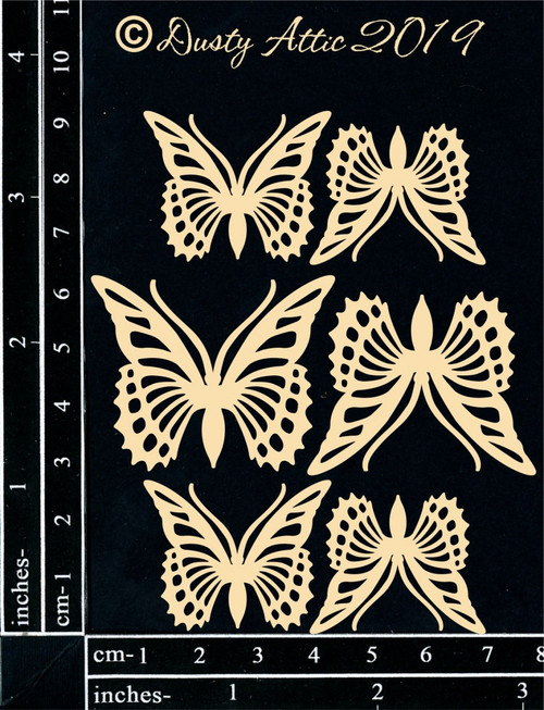 Dusty Attic Mini Monarch Butterflies Chipboard