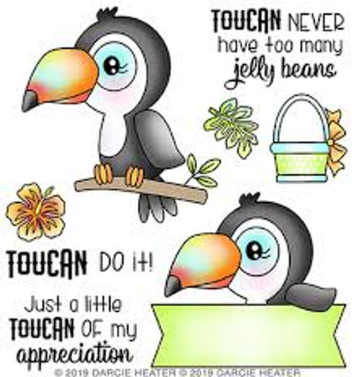 Darcie's Heart & Home Bundle Toucan Do It Cling Mounted Stamp and Tin Pin Set