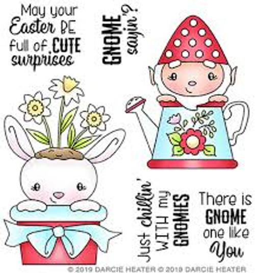 Darcie's Heart & Home Bundle Gnome One Cling Mounted Stamp and Tin Pin Set