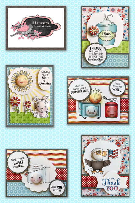 Darcie's Heart & Home Freedom Card Kit (Virtual Class 13)