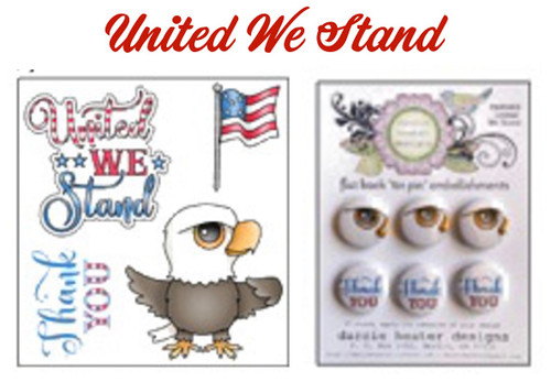 Darcie's Heart & Home Bundle United We Stand Clear Stamp and Tin Pin Set