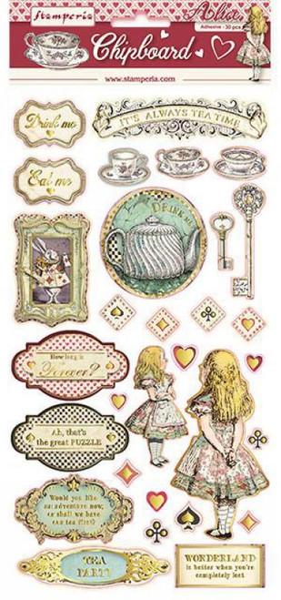 Stamperia Alice Chipboard