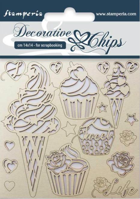 Stamperia Decorative Chips Ice Cream