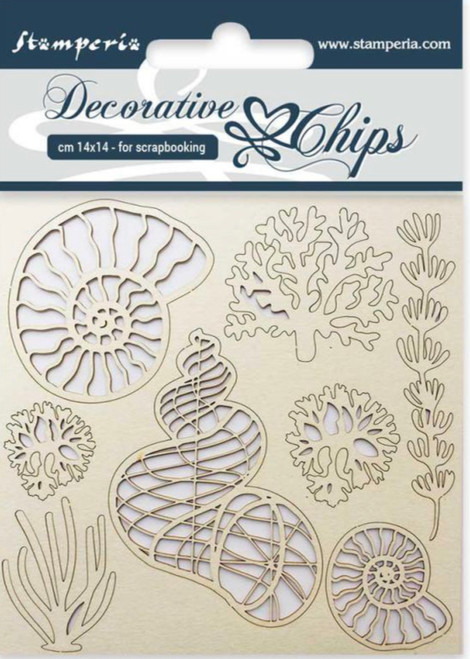 Stamperia Decorative Chips Shells