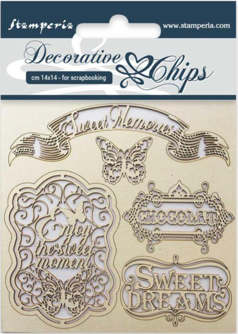 Stamperia Decorative Chips Sweet Memories