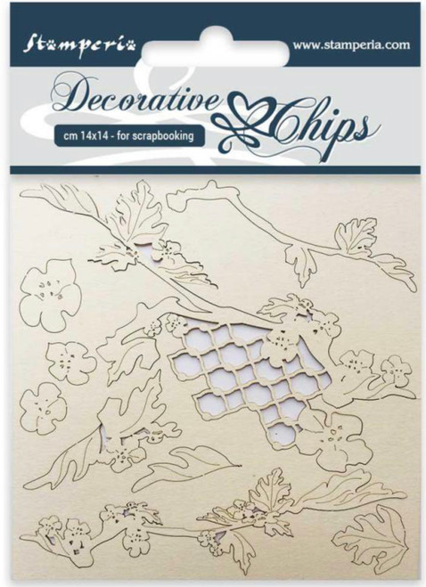Stamperia Decorative Chips Poinsettia