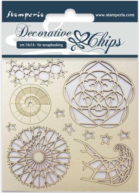 Stamperia Decorative Chips Arctic