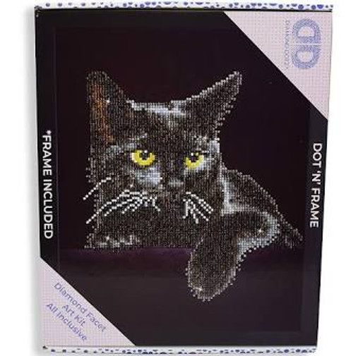Diamond Dotz Midnight Cat with Frame