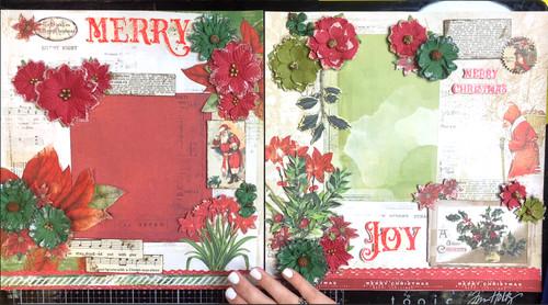"""Christmas Joy "" 2-Page Layout feat. 49 & Market"