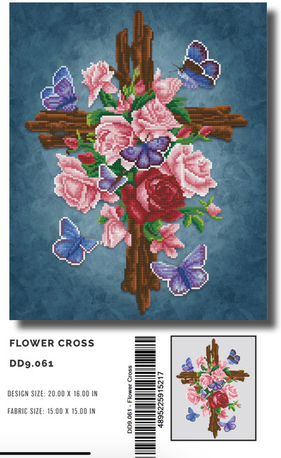 Diamond Dotz Flower Cross