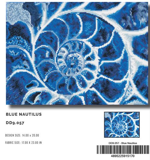 Diamond Dotz Blue Nautilus