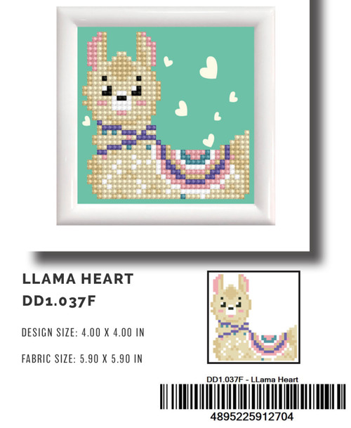 Diamond Dotz Llama Heart (framed)