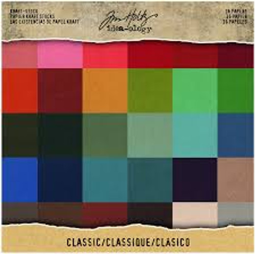 Tim Holtz Ideaology Kraft Stock Classic Papers