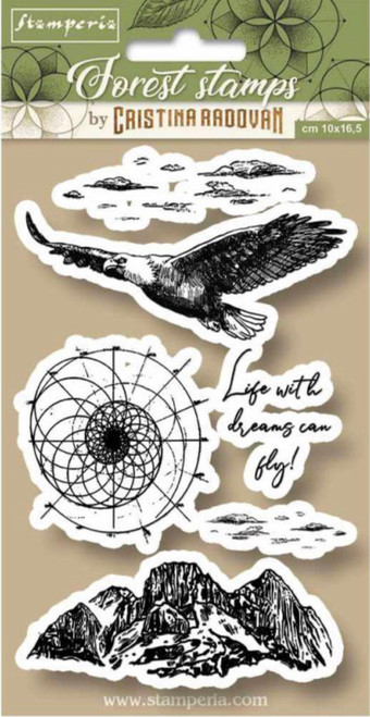 Stamperia HD Natural Rubber Stamp Forest Eagle