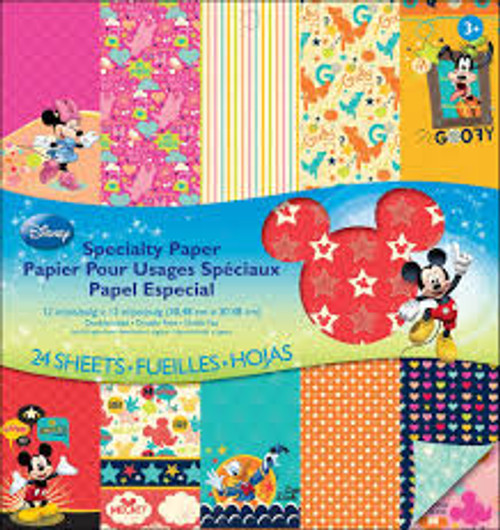 "EK Success Disney Mickey 12"" x 12"" Specialty Paper Pad"