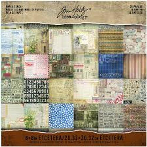 Tim Holtz Idea-ology 8 x 8 Paper Pad Paper Stash Etcetera