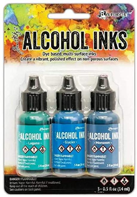 Tim Holtz® Alcohol Ink Kit - Teal/Blue Spectrum