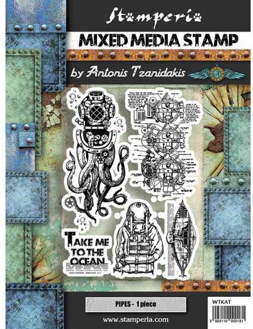 Stamperia Stamp 15x20 Sea World - Octopus