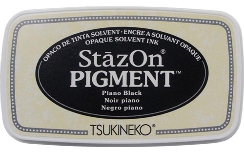 Tsukineko StazOn Pigment Piano Black Ink Pad