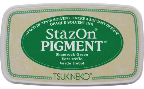 Tsukineko StazOn Pigment Shamrock Green Ink Pad