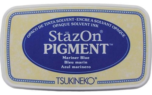 Tsukineko StazOn Pigment Mariner Blue Ink Pad