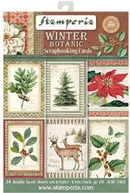Stamperia Winter Botanic Scrapbooking Cards
