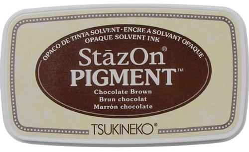 Tsukineko StazOn Pigment Chocolate Brown Ink Pad