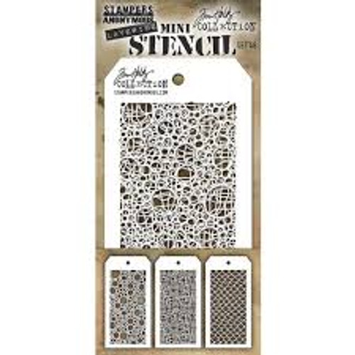 Stampers Anonymous Tim Holtz Layering Mini Stencil Set #46