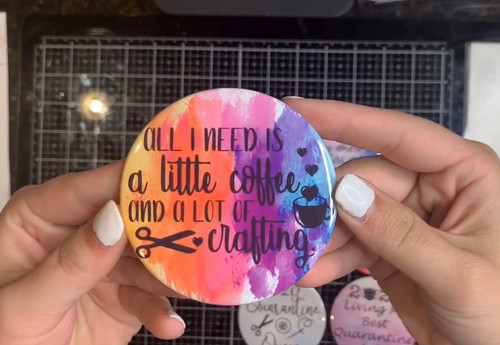 """""""All I Need"""" Pin-Back Button"""