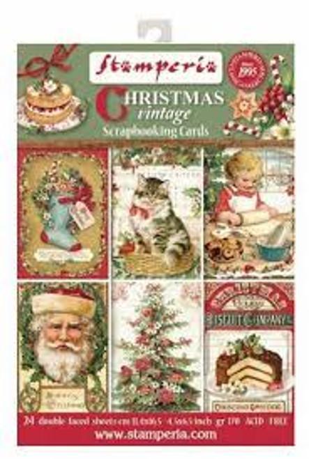 Stamperia Christmas Vintage Scrapbooking Cards