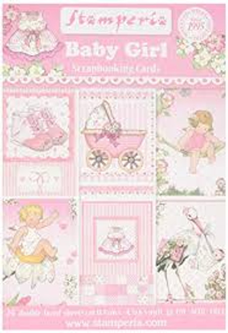 Stamperia Baby Girl Scrapbooking Cards