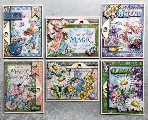 Graphic 45 Fairie Wings Hidden Tag Card Set Monthly Card Kit Volume 8