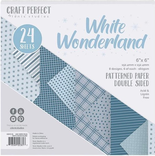 Tonic Craft Perfect White Wonderland 6 x 6 Patterned Paper Pack