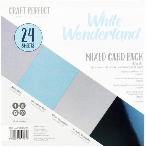 Tonic Craft Perfect White Wonderland 6 x 6 Mixed Card Pack