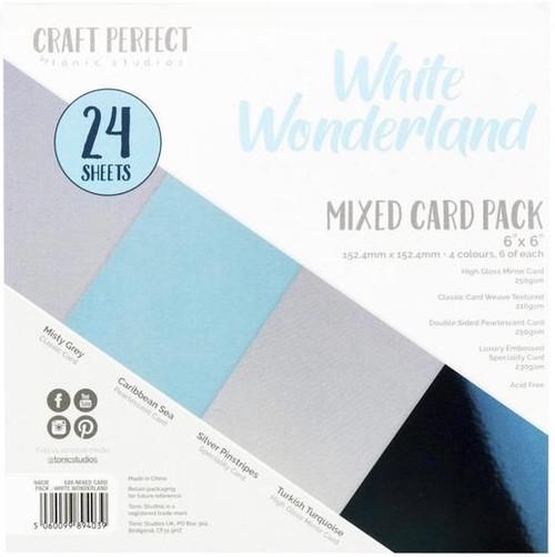 Tonic Craft Perfect White Wonderland 6 x 6 Mixed Card Pack