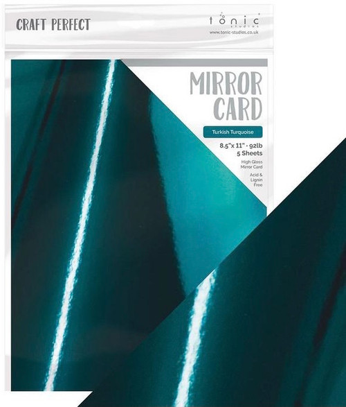 Tonic Craft Perfect Mirror Card Turkish Turquoise