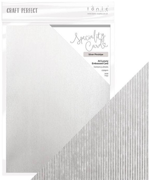 Tonic Craft Perfect Speciality Card Silver Pinstripe